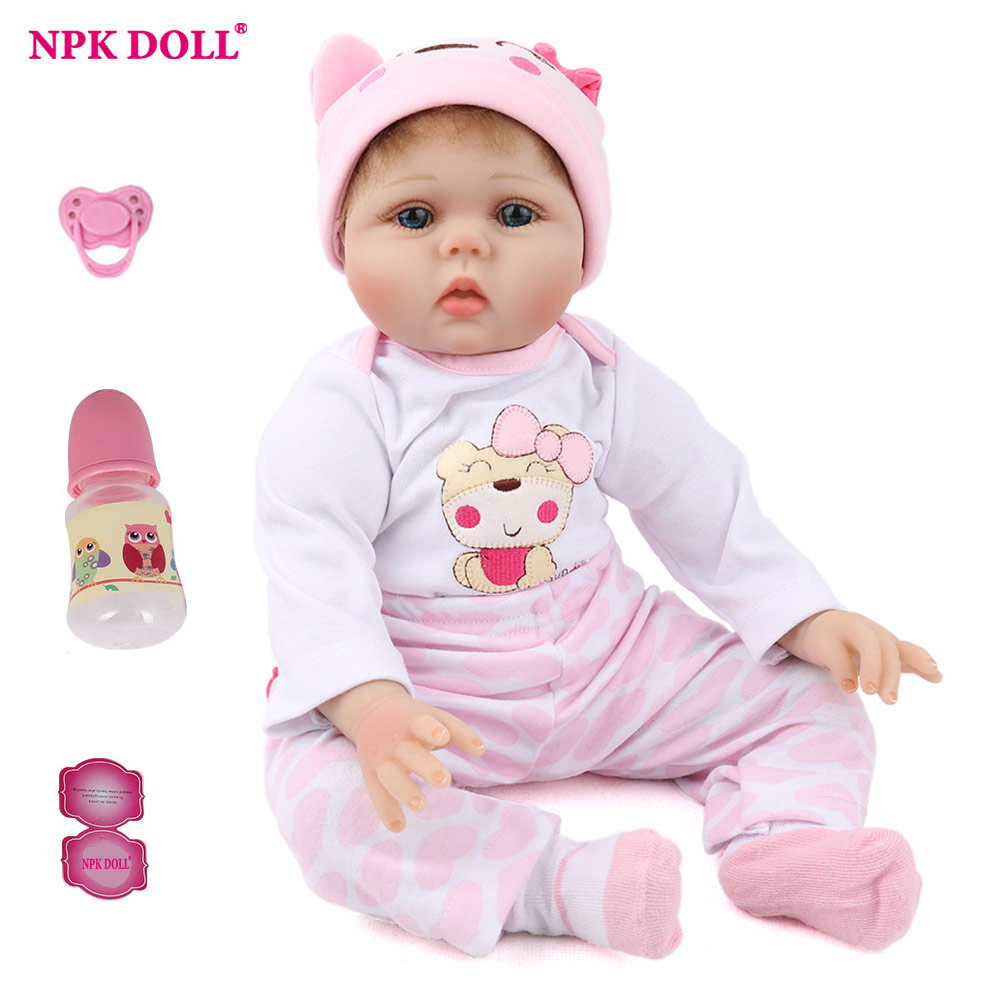 NPKDOLL 55cm Soft Silicone Doll Reborn Baby 22 Toy For Girls Newborn Girl Baby Birthday Gift For Child Bedtime Early Education NPKDOLL 55cm Soft Silicone Doll Reborn Baby 22 Toy For Girls Newborn Girl Baby Birthday Gift For Child Bedtime Early Education