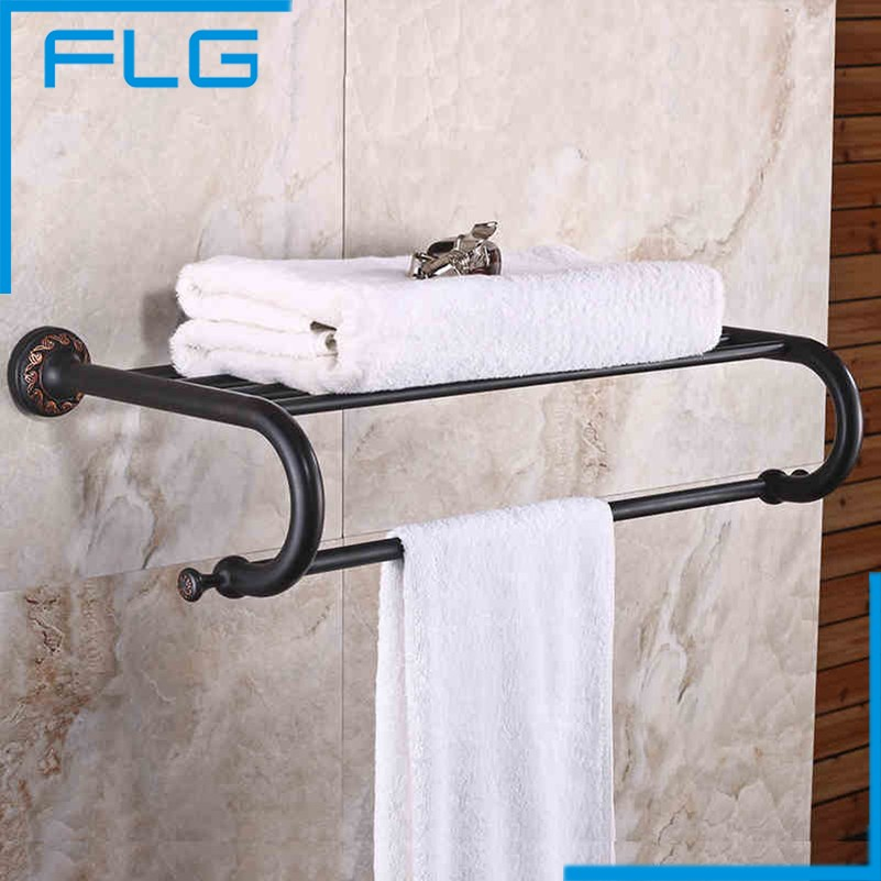 FLG Wall mounted Bathroom Accessories towel holder ORB Finished bathroom towel holder the ivory white european super suction wall mounted gate unique smoke door