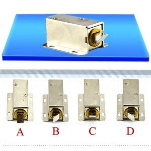 Image 2 - Elektromechanische Lock Micro deur operator Kleine elektrische sloten ladeblok elektronische sloten Automatische Toegangscontrole