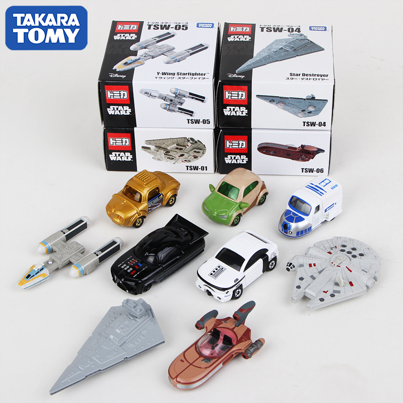 Takara Tomy Tomica Star Wars Metal Diecast Vehicles Toy Cars Yoda/Chewbacca/BB-8/R2D2/Stormtrooper/C-3PO/Kylo Ren