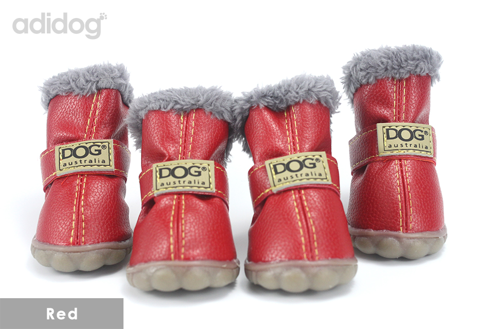 Pet Dog Shoes Winter Super Warm 4pcs set Dogs Boots Cotton Anti Slip XS 2XL Shoes for Small Pet Product ChiHuaHua Waterproof 404