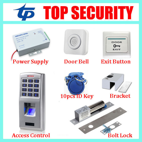 Free shipping standalone biometric fingerprint door access control system with keypad metal fingerprint access controller kits