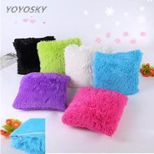 Подушка Чехол 43*43 плюшевые подушки наволочки для декоративных подушек твердый домашний декоративный пояс Dekoratif Yastklar#815