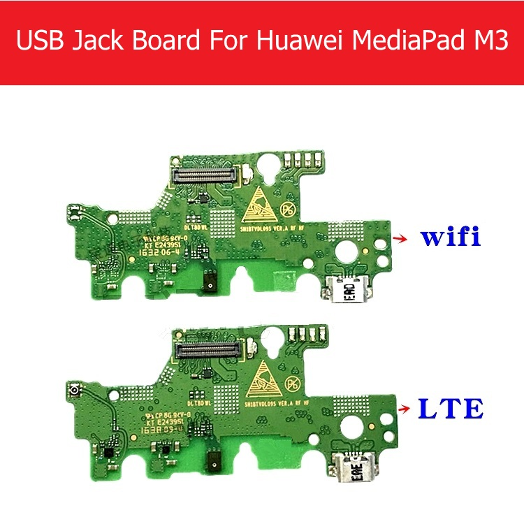 Genuine USB Charging Jack Dock Board For Huawei MediaPad M3 BTV-DL09 BTV-W09 USB Charger Port Connector Flex Replacement Repair original usb charging dock charger port flex cable for iphone 7 high quality headphone audio jack connector flex cable