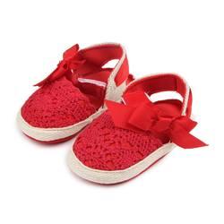 Детская обувь для девочек с бантом осень Новорожденные первые ходунки обувь для маленьких девочек полые Бант Паста принцесса 2018 обувь для
