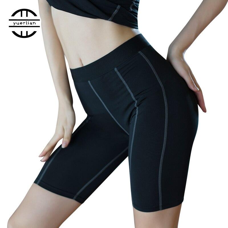 Yuerlian New Women Gym Leggings Shorts Compression Camiseta De Baloncesto Sport Trousers Crossfit Yoga Fitness Running Shorts yuerlian белый l