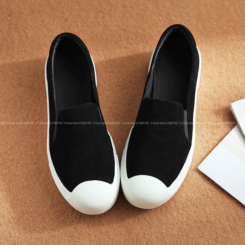 ФОТО 2017 Genuine Leather Platform Shoes Woman Suede Sheepskin Loafers Women Luxury Ladies brand Flat Shoes Women Tenis Feminine