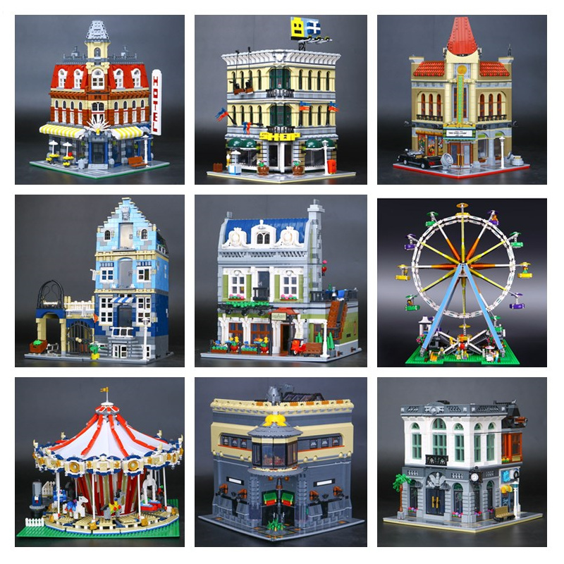 H&HXY DHL IN STOCK 15002 15005 15006 15007 15012 15013 15015 15019 15036 15039 15042 17003House Model Building Block Bricks Toys