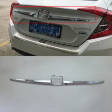 Car body kits  ABS rear moulding trims Pedal Car Sticker For HONDA CIVIC 2017 car body kits front foglight trims car sticker for honda civic 2017 abs chrome