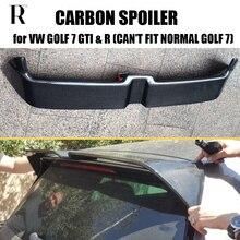 MK7 GTI O Tarzı Karbon Fiber Arka Çatı Bagaj Kanat Spoiler için Volkswagen Golf 7 VII MK 7 GTI & R 2014 2015 2016 2017