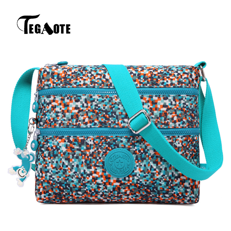 TEGAOTE Small Shoulder Bags Female Solid Floral Bags Handbags Women Famous Flap Mini Nylon Beach Crossbody Bag Sac A Main 2017 tegaote beach bag female bags handbags women famous brand nylon messenger crossbody shoulder bag bolsa feminina sac a main 2017