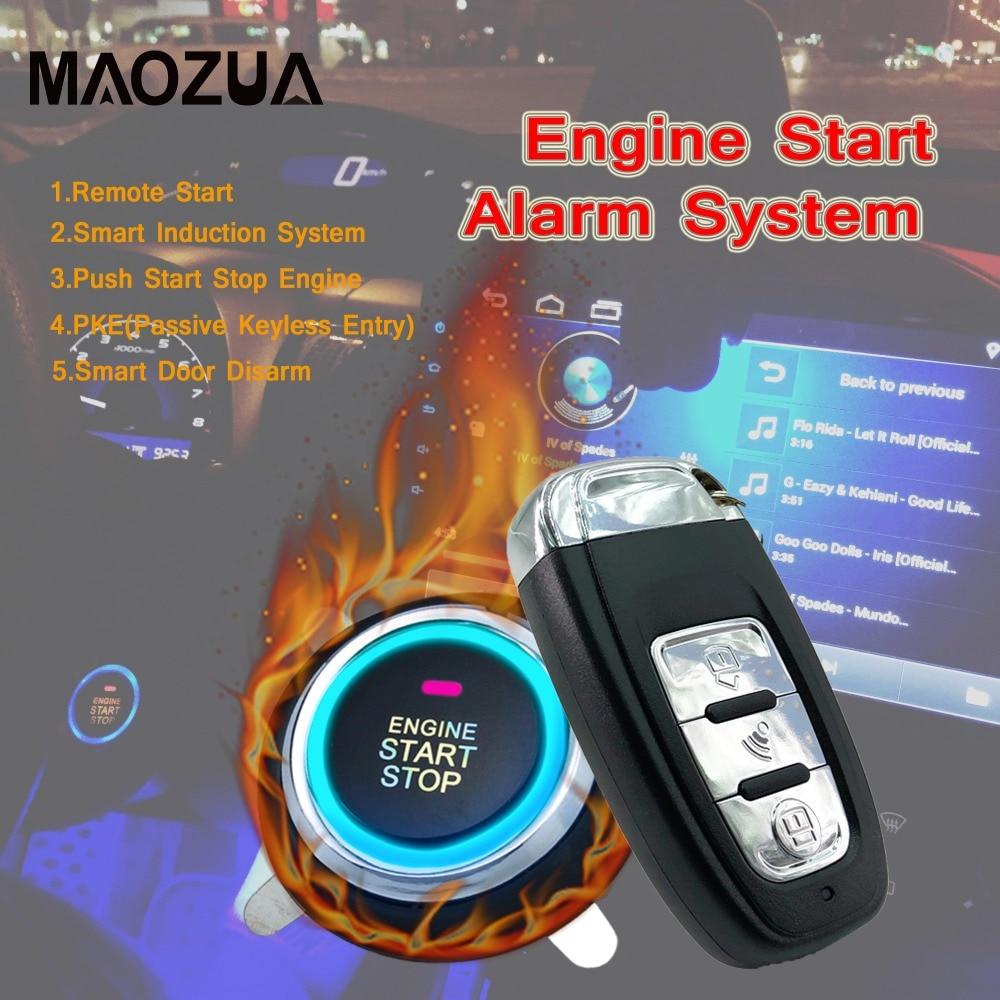 9Pcs Auto Car SUV Keyless Entry Engine Start Alarm System Push Button Remote Starter Start Stop Button