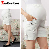 Emotion Moms Maternity Pants summer Maternity Trousers High waisted breastfeeding Trousers for pregnant women Pregnant shorts