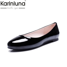 Karinluna New Casual Shoes Woman Flat With Flats Simple all-match Round Toe Shoes Women Shoes Big Size 31-52