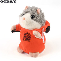 OCDAY Talking Hamster Mouse Pet Plush Toy Cute Speak Talking Sound Record Hamster Educational Toys Stuffed