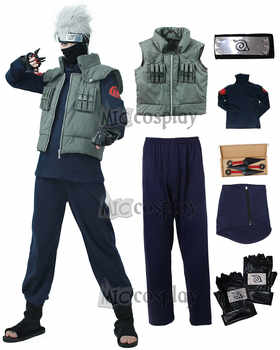 Kakashi Cosplay Costume Naruto Cosplay Hatake Kakashi Ninja Vest Headband Mask and accessories Carnival Outfit - DISCOUNT ITEM  0% OFF All Category