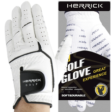 Golf glove men Left hand genuine leather wear-resisting  Non-slip Sheepskin fabric free shipping