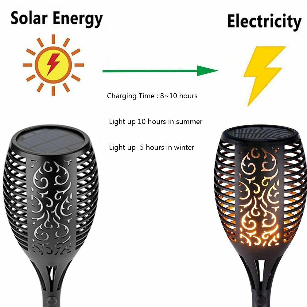 Flame Solar Torch Lights Lawn Lamp 1/2/4Pcs Dancing Flickering Lamp for Mpow LED Waterproof Solar Torch Light Garden Solar Lamps