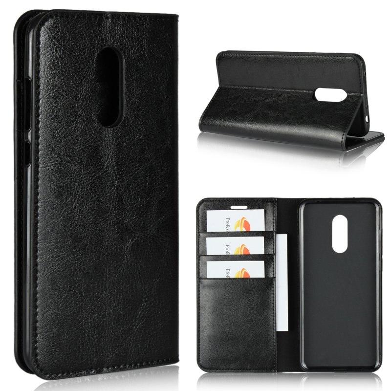 Genuine Leather Case For Xiaomi Redmi 5 Plus,Luxury Business Wallet Cover For Redmi 5 Plus,Flip Bag Capinha Etui Coque Hoesje