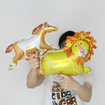 New design 100pcs/lot Lion Foil Balloons small cute horse air-filled globos Kid's Birthday Party Supplies Mini Shape Animal Toys