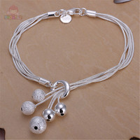 Hot Seller Simple Design Ball Shape Trendy Style Women Link Bracelets Generous Jewelry Gift For Lover & Friends Fashion SHAF114