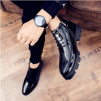 New Design Luxury Men Patent Leather Moccasins Rivet oxfords   Shoes   Male high top Dress Party Wedding   Formal     shoes   LH-65