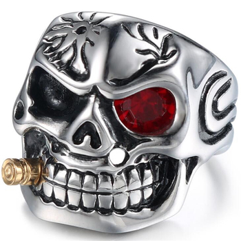 Gold Smoking Pipe Biker Rings 1