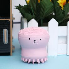 Фотография Wash Face Exfoliating Cute Pink Octopus Brush Cleaning Pad Facial SPA Skin Tool