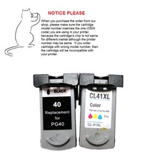 1set PG40 CL41 Refurbished ink cartridge PG-40 CL-41 for Canon PIXMA IP1180 IP1200 IP2500 MX308 MP140 MP150 MP160 MP210 printers