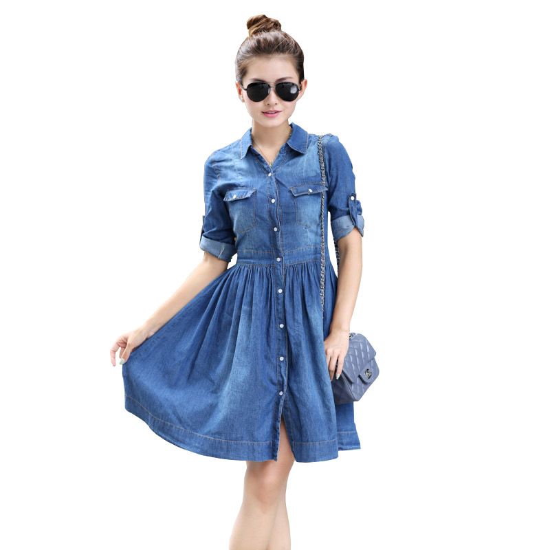 Popular NEW BUTTON FRONT WOMENu0026#39;S DENIM PINAFORE DRESS DUNGAREES DRESS | EBay