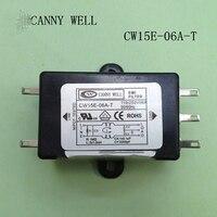 CW15E-06A-T EMIแหล่งจ่ายไฟกรอง110-250โวลต์6A ACอุปกรณ์ไฟฟ้าอะแดปเตอร์อุปกรณ์ไฟฟ้า
