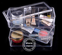 Mother S Day Gift Crystal Clear Three Group Box Jewelry Cosmetic Storage Display Box Acrylic Case