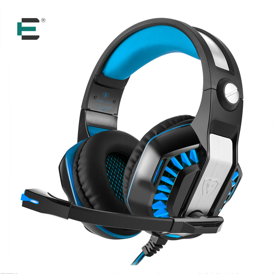 EACH G2000 Upgrade Beexcellent GM-2 Over-ear Gaming Headset for PC Gamer Computer Tablet PS4 Gaming Headphone with Mic LED Light each g8200 gaming headphone 7 1 surround usb vibration game headset headband earphone with mic led light for fone pc gamer ps4