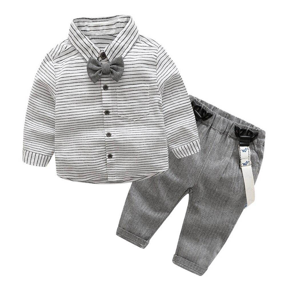 2pcs Toddler Kids Clothing Set Baby Boys Gentlemen Bowknot Shirt + Suspender Pants Outfit Boys Fashion Clothes ремни lee ремень gentlemen