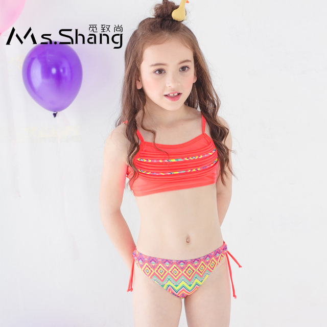 55ed96820a9a5 3-12 Years Girl Swimwear Baby Girl Bikini Children Two Piece Swimsuit Pink  Blue Infant