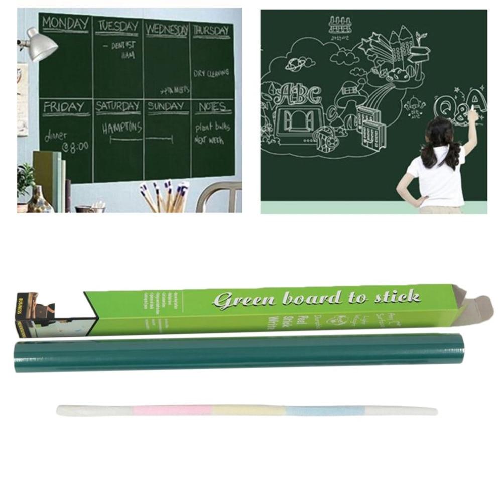 45x200CM Large Size Chalk Board Blackboard Stickers Removable PVC Children Kids Drawing Art Chalkboard Sticker magnetic chalkboard blackboard sheet decorative black chalk writing board blackboard stickers 60 x 40 cm