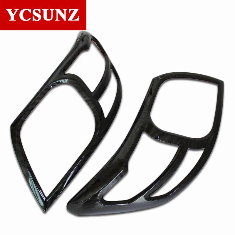 ABS Carbon Fiber Color Headlight Cover Accessories For Toyota Hilux Vigo 2012 2013 2014 SR5