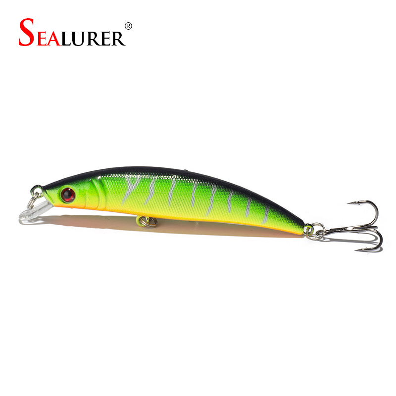 SEALURER 1pcs  8CM/8.2g Fishing Lures Pike Fishing Bait Minnow Bass Floating Perch Lure Fishing Tackle wldslure 1pc 54g minnow sea fishing crankbait bass hard bait tuna lures wobbler trolling lure treble hook