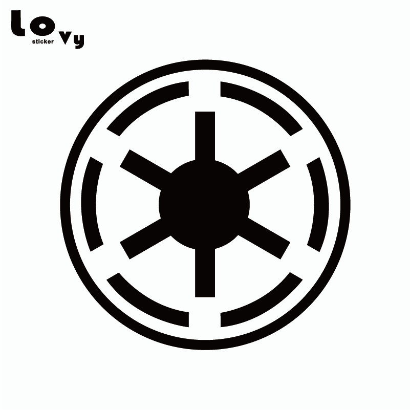 star wars wall sticker galactic republic symbol logo viny wall decal home decor in wall stickers. Black Bedroom Furniture Sets. Home Design Ideas