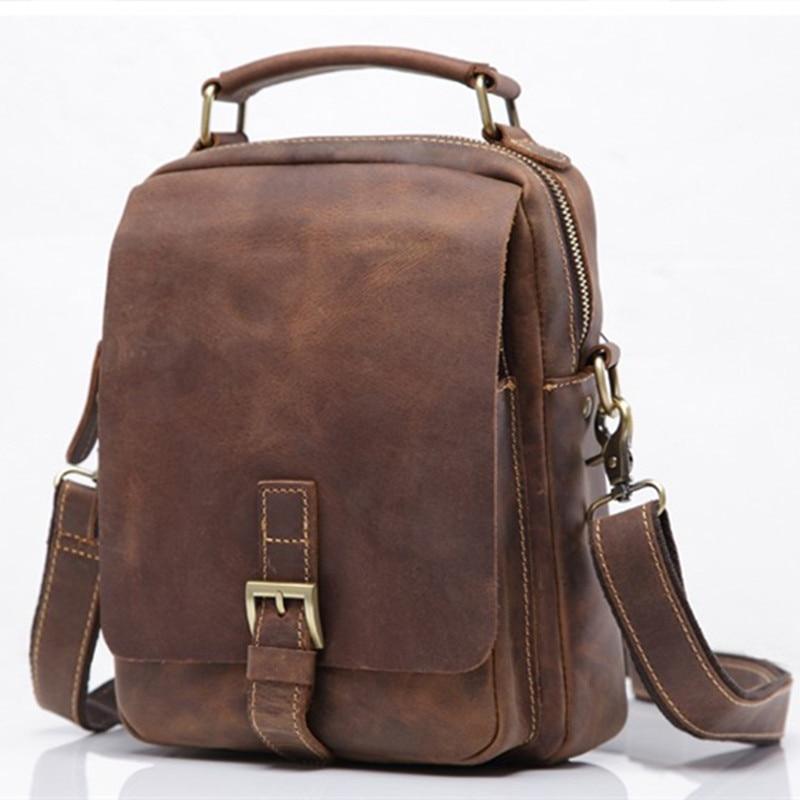 Neweekend Luxury Handbag for Men Genuine Leather Messenger Bag Cross body Business Mini Hand Bags Men's Travel Shoulder Bag Male
