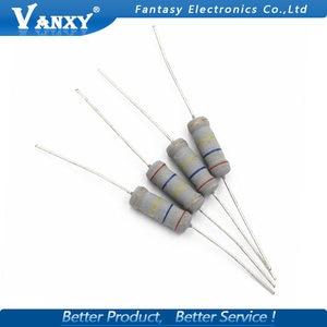 10pcs 5W 5% Carbon Film resistor 1R ~ 1M 2.2R 10R 22R 47R 51R 100R 150R 470R 1K 4.7K 10K 47K 1 2.2 10 22 47 51 100 150 470 ohm(China)