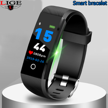 LIGE 2019 New Sport Smart Bracelet Ip67 waterproof Activity Fitness Tracker Bluetooth Heart Rate monitori Watch