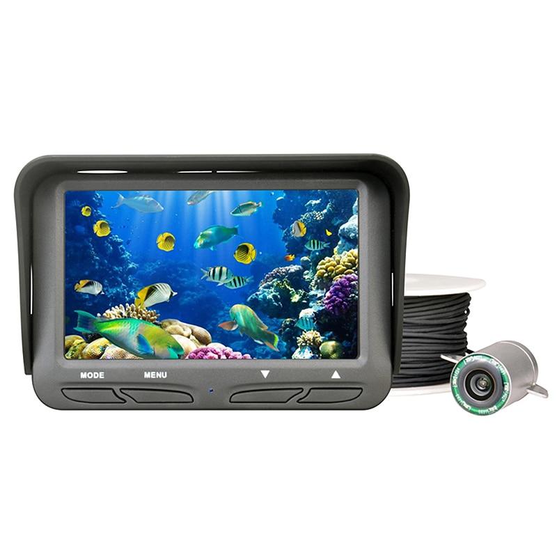 Unterwasser Eis Video Angeln Werkzeuge Kamera 4,3 Inch Lcd Monitor 6 Led 720P Nacht Ansicht Fisch Kamera 30M kabel Fisch Finder Ff118 (U