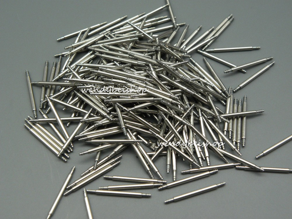 Hot sell 20pcs per set 22mm width 1.8mm Diameter stainless steel watch band spring bars pins link tools double flanges m1 5 8 25mm 1pcs watch band spring bars strap link pins repair tool watchmaker stainless steel watch accessories kit set