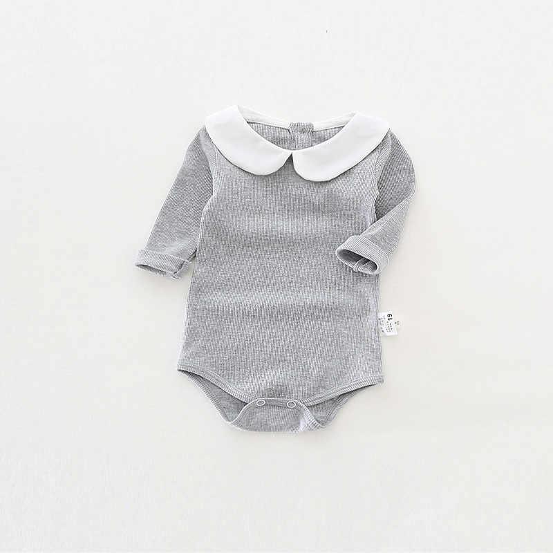 d13b20295 Осенние детские комбинезоны эластичность хлопка с длинным рукавом детская  одежда для мальчиков и девочек Питер Пэн