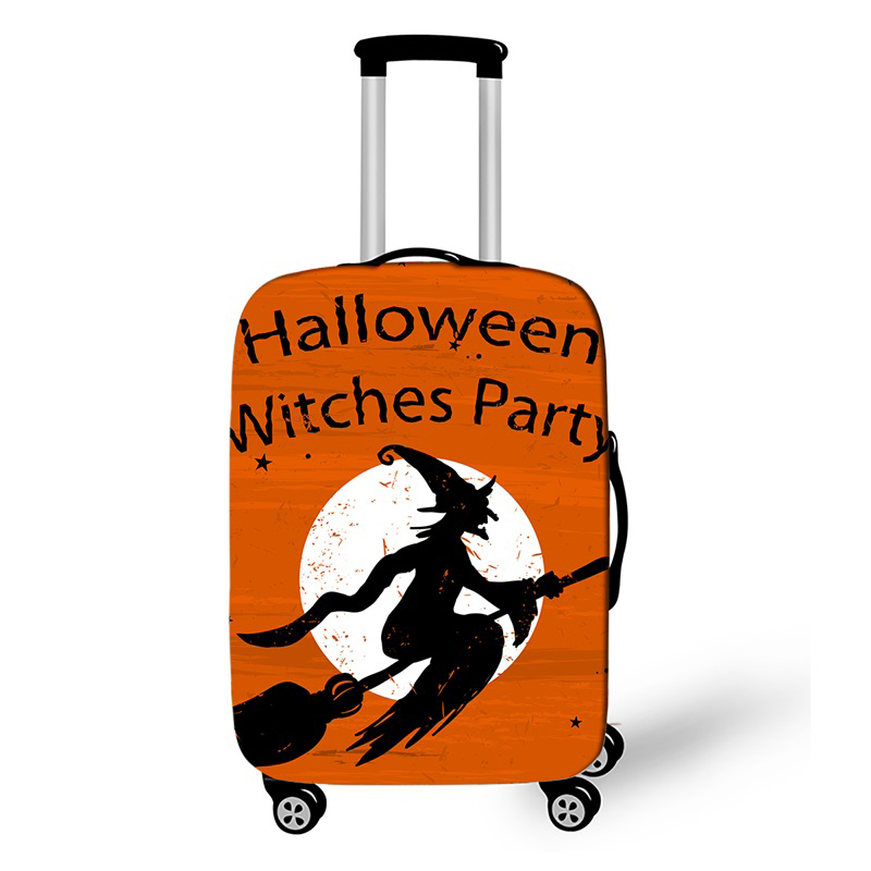 Halloween Witch Travel Suitcase Protective Cover For 18-32 Inch Trolley Luggage Accessories Case Cover Travel Accessories