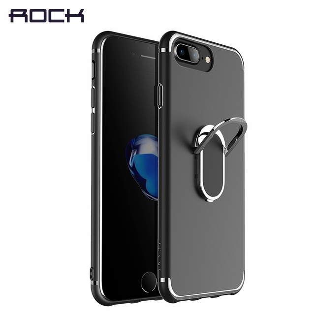Ring Holder Case For Iphone 8 Plus Rock Tpu Kickstand Cover Case