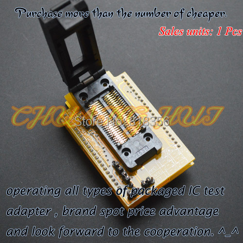 HEAD-DIP42 programmer adapter PSOP42 SOP42 test socket for GANG-08 programmer clamshell qfp144 lqfp144 tqfp144 su h8s2505 tq144 programmer adapter for lp programmer