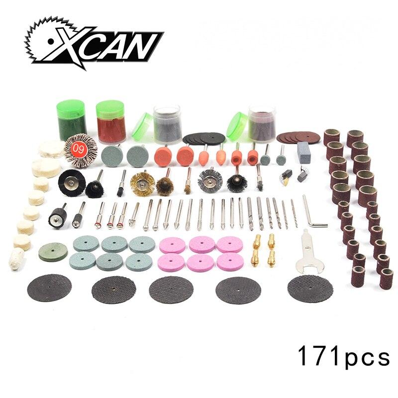 171PC Dremel Accessories Rotary Tool Bit Set Electric Rotary Tool Accessories for Grinding Polishing Cutting with 3.2mm Mandrel цена