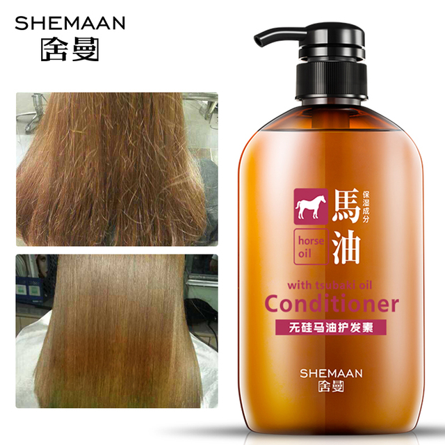 SHEMAAN 600ML Silicone-free Oil Horse Oil Conditioner Deep Repair Moisturize Professional Conditioner Repair Damaged Hair Care
